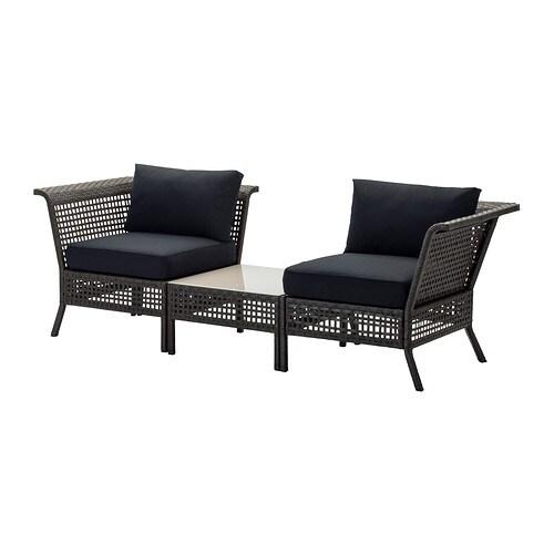 kungsholmen kungs ecksessel couchtisch au en schwarzbraun ikea. Black Bedroom Furniture Sets. Home Design Ideas