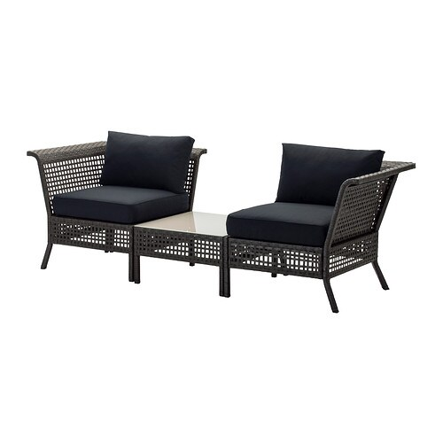 kungsholmen kungs ecksessel couchtisch au en. Black Bedroom Furniture Sets. Home Design Ideas