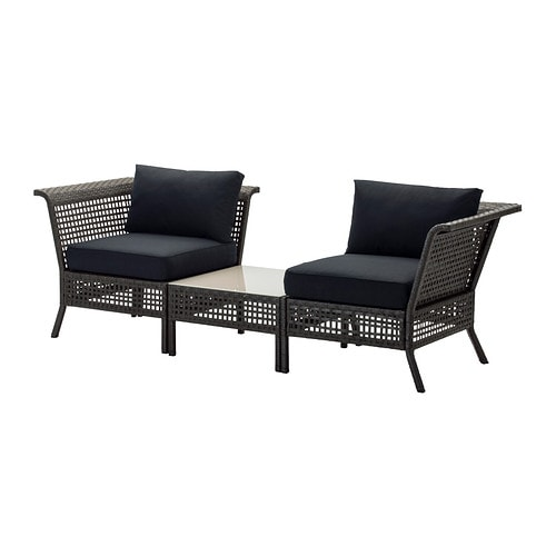 kungsholmen kungs ecksessel couchtisch au en schwarzbraun schwarz ikea. Black Bedroom Furniture Sets. Home Design Ideas