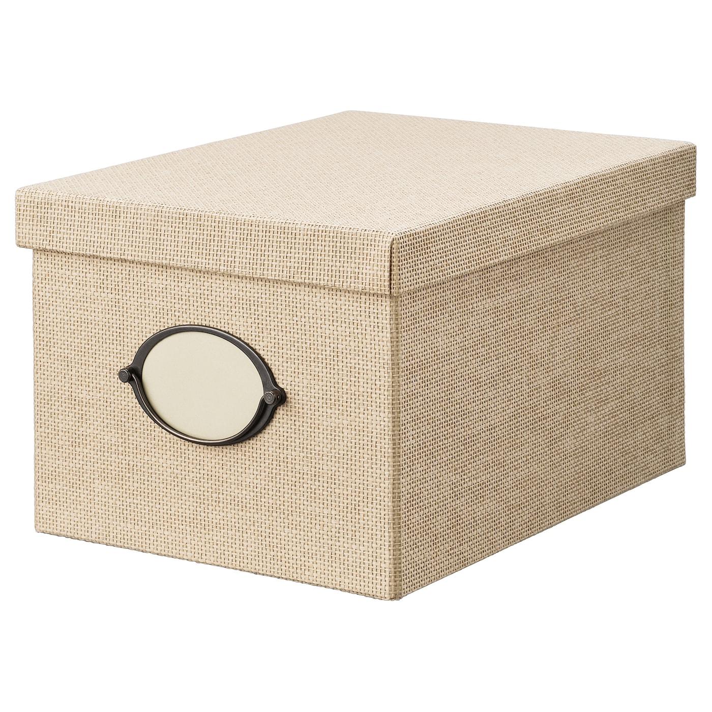 IKEA KVARNVIK Kasten mit Deckel - 35 x 25 x 20 cm - beige