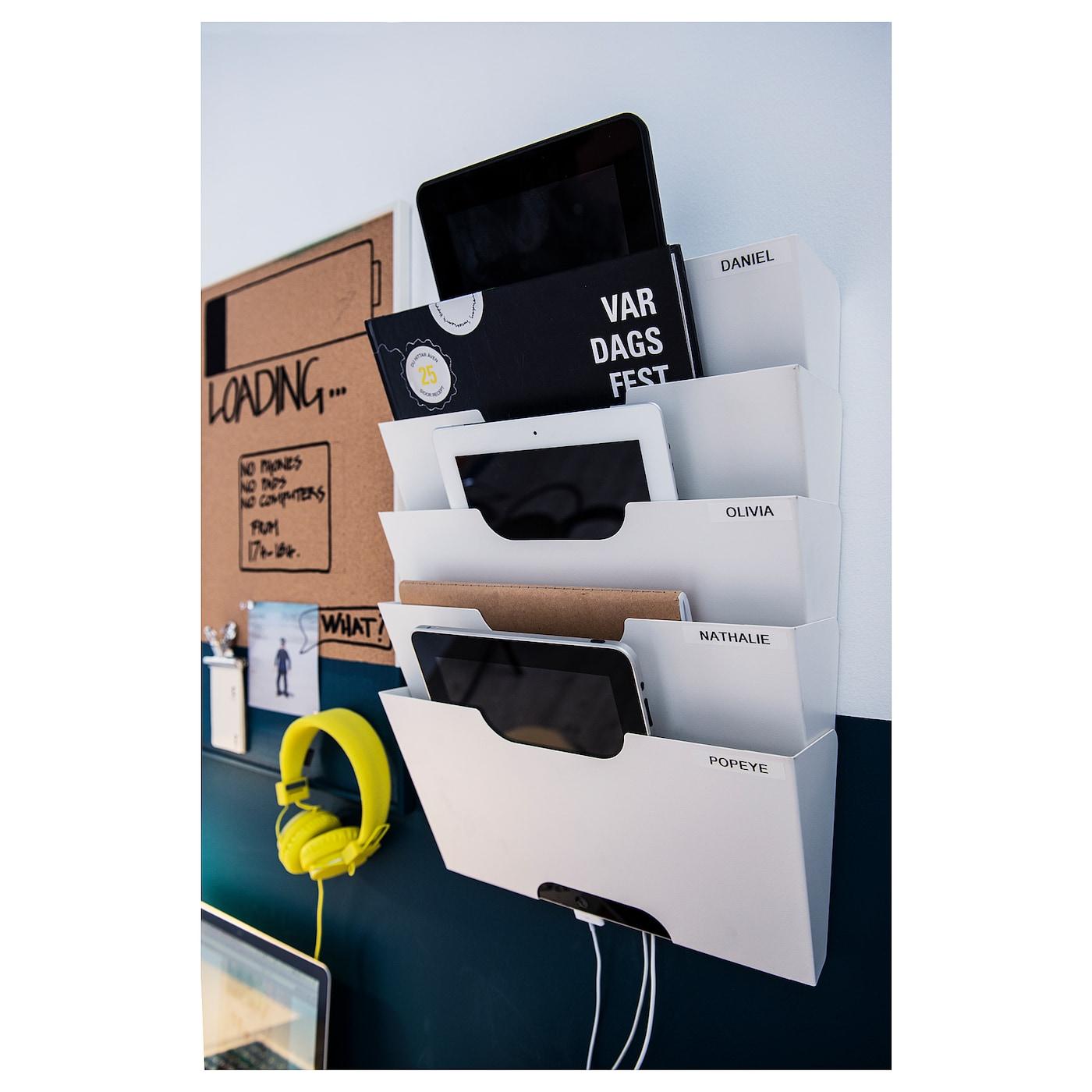 IkA Zeitungshalter für die Wand; in weiß Büro Aufbewahrung,46x34x9cm