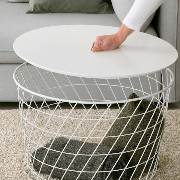 KVISTBRO Aufbewahrungstisch, weiß, 61 cm