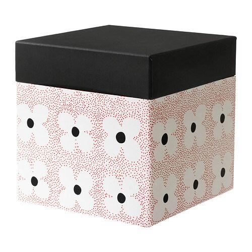 kvittra kasten mit deckel blume rot 20x20x20 cm ikea. Black Bedroom Furniture Sets. Home Design Ideas