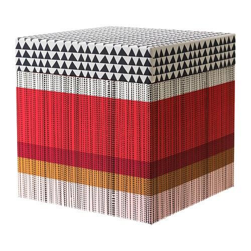 kvittra kasten mit deckel rot 25x25x25 cm ikea. Black Bedroom Furniture Sets. Home Design Ideas