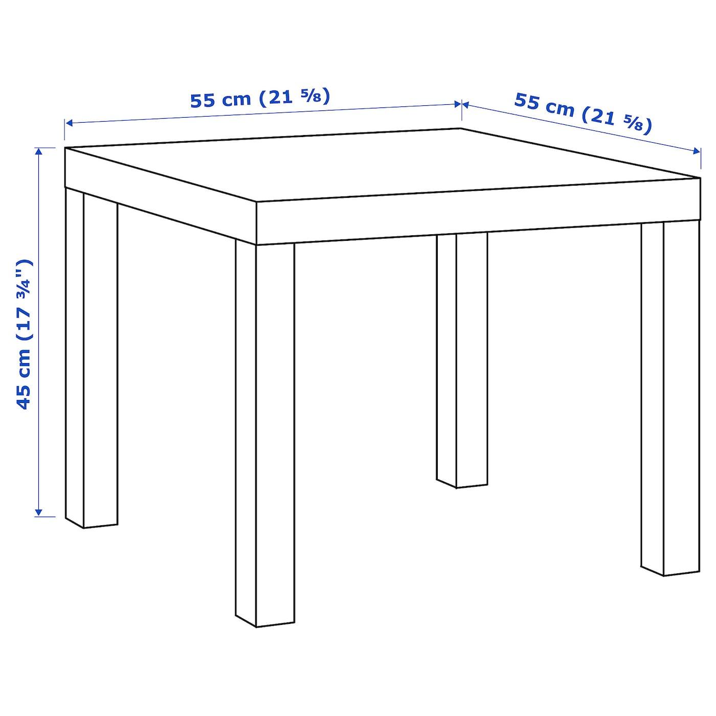 LACK Beistelltisch Hochglanz weiß 55x55 cm