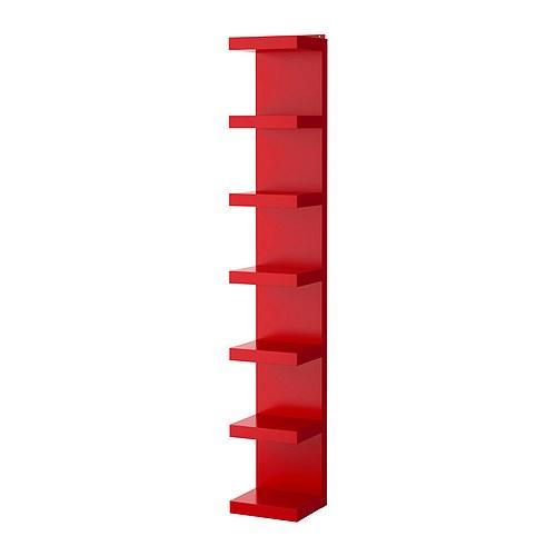 LACK Wandregal , rot Breite: 30 cm Tiefe: 28 cm Höhe: 190 cm Max Belastung: 25 kg max. Belastung/Regalboden: 3 kg