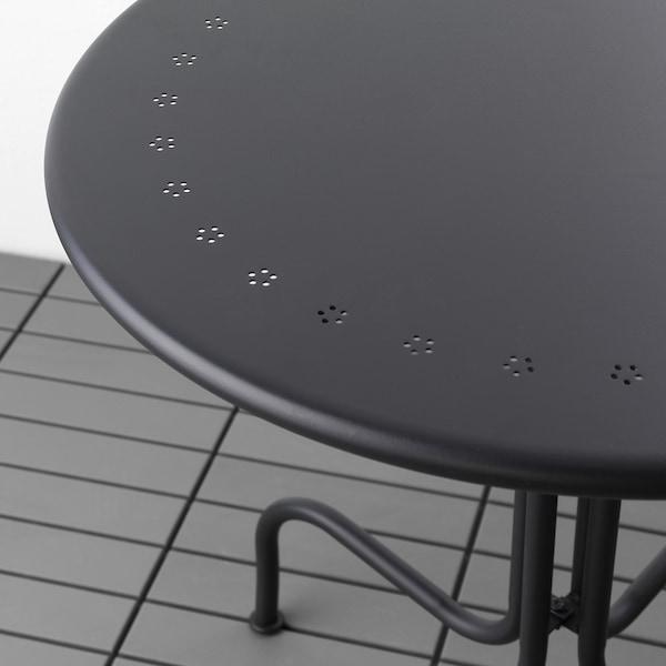 LÄCKÖ Tisch/außen, grau, 70 cm