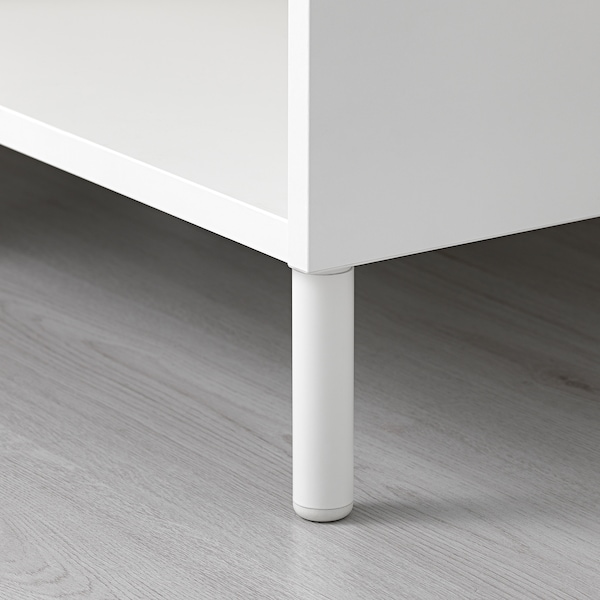 LÄTTHET Bein, weiß/Metall, 11 cm