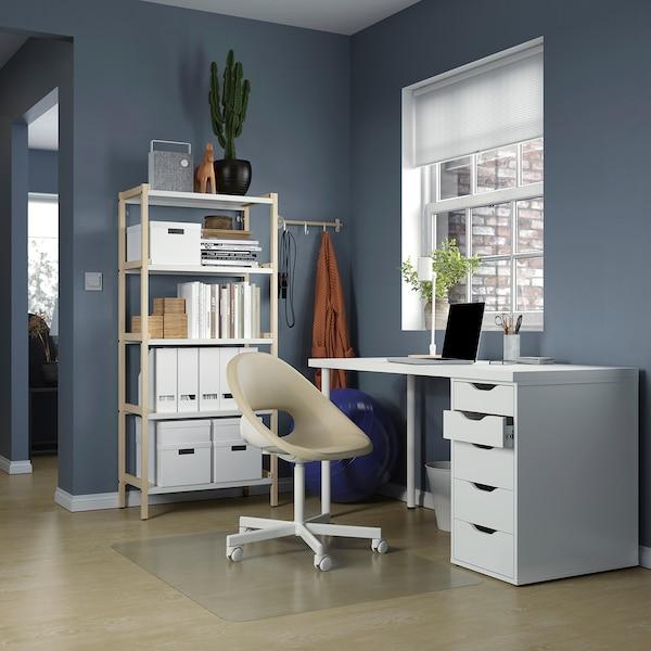 LAGKAPTEN / ALEX Schreibtisch - weiß 140x60 cm