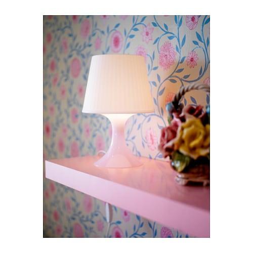 ikea lampan wei weiss tischleuchte nachttischlampe. Black Bedroom Furniture Sets. Home Design Ideas