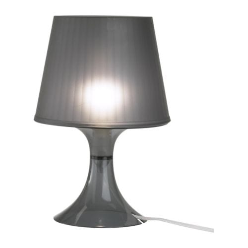 ikea designer lampe de table noir gris lampe de chevet lampe lampe de chevet neu ovp ebay. Black Bedroom Furniture Sets. Home Design Ideas