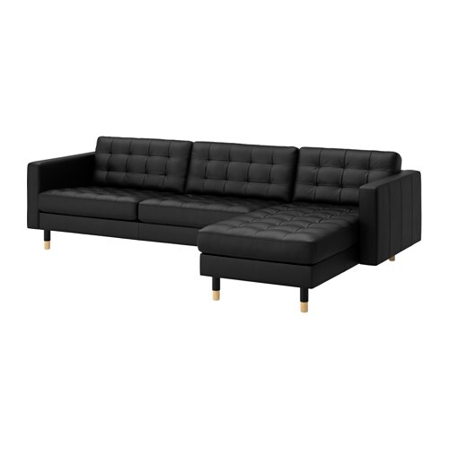 landskrona 3er sofa und r camiere grann bomstad schwarz holz ikea. Black Bedroom Furniture Sets. Home Design Ideas