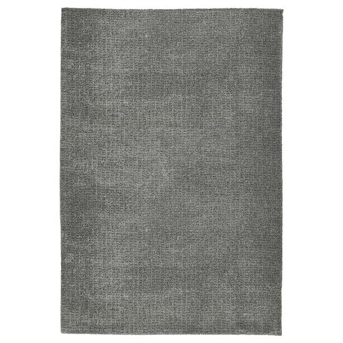 LANGSTED Teppich Kurzflor hellgrau 90 cm 60 cm 14 mm 0.54 m² 2195 g/m² 900 g/m² 11 mm