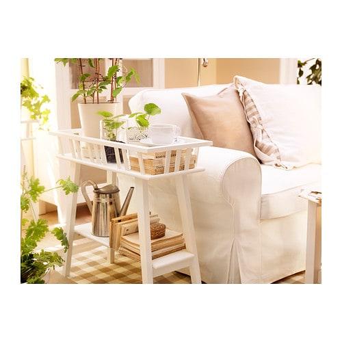 ikea blumenbank lang blumenhocker weiss pflanzenbank. Black Bedroom Furniture Sets. Home Design Ideas
