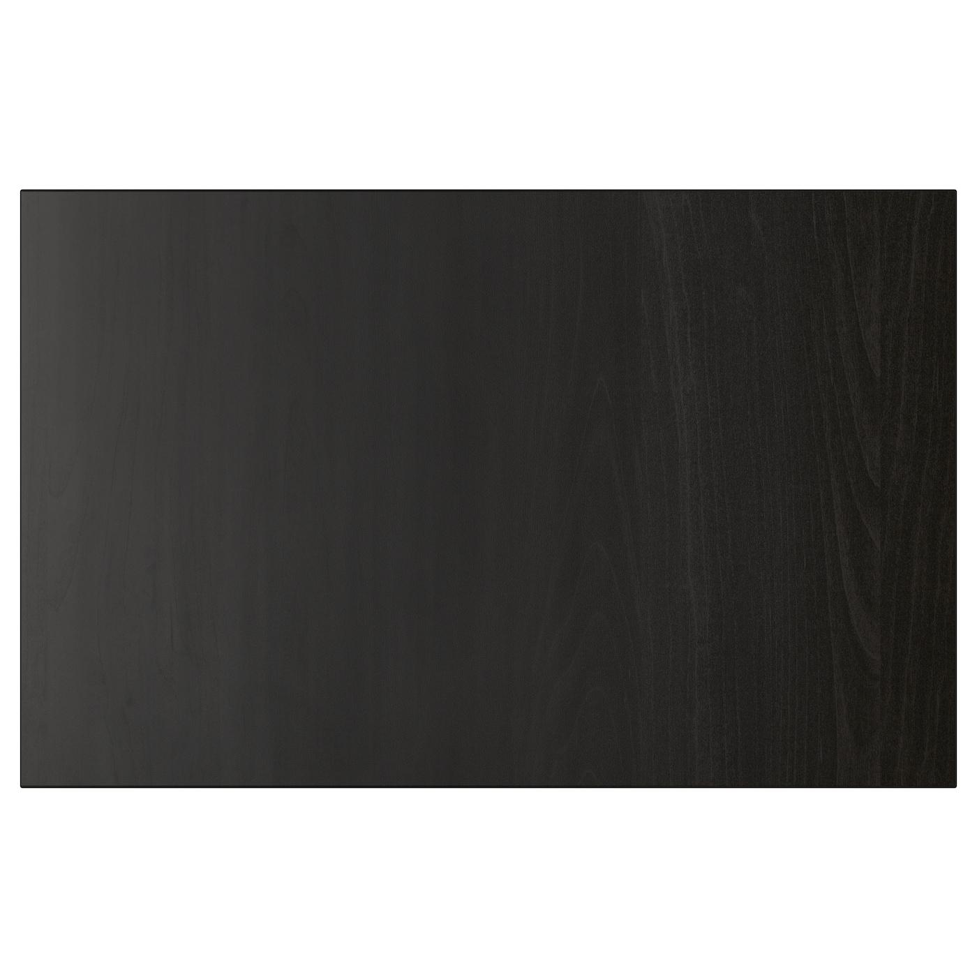 LAPPVIKEN, Tür/Schubladenfront, schwarzbraun, 402.916.67