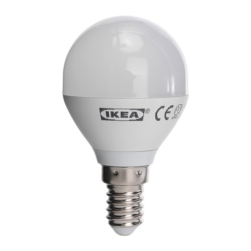IKEA Ledare LED-Lampe E14, rund opalweiß