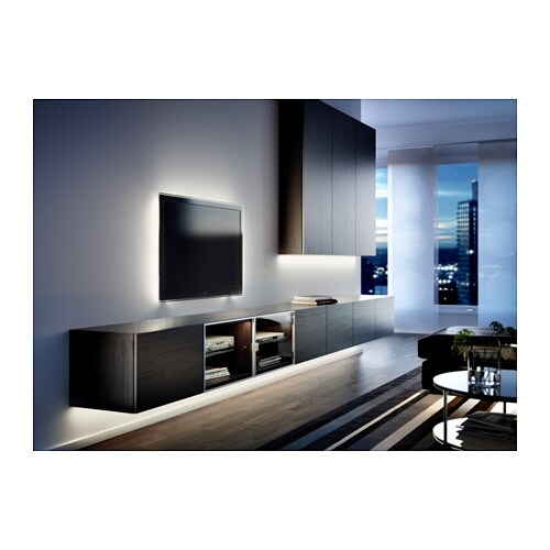 ikea ledberg led lichtleiste 75cm wei 3 fach steckbar je 25cm komplettset neu ebay. Black Bedroom Furniture Sets. Home Design Ideas