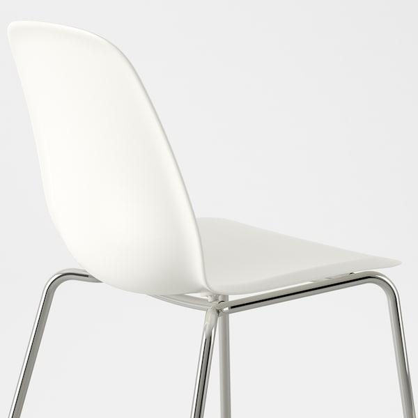 LEIFARNE Stuhl Weiß Broringe Verchromt IKEA Deutschland