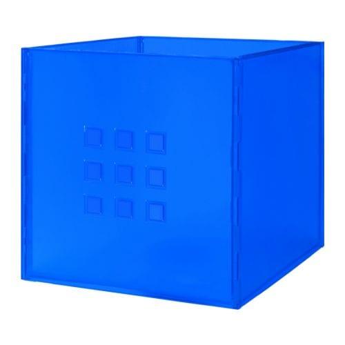 ikea lekman box blau aufbewahrung einsatz fach spielzeugkiste expedit regal neu ebay. Black Bedroom Furniture Sets. Home Design Ideas
