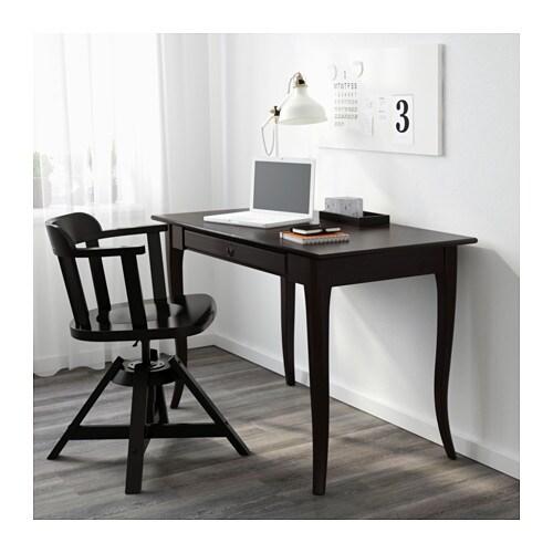 ikea schreibtisch schwarz. Black Bedroom Furniture Sets. Home Design Ideas