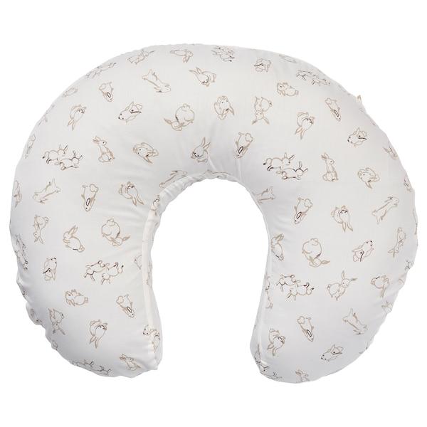 LEN Bezug für Stillkissen, Kaninchen/weiß, 60x50x18 cm
