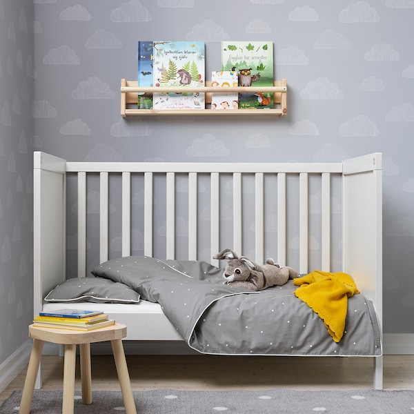 LENAST Bettwäsche-Set f Babybett, 2-teilig, Punkte, 110x125/35x55 cm