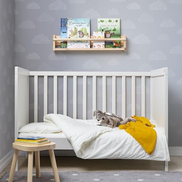 LENAST Bettwäsche-Set f Babybett, 2-teilig, weiß, 110x125/35x55 cm
