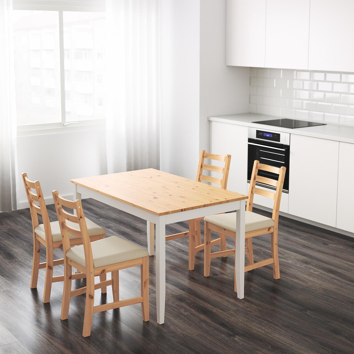 LERHAMN Tisch Antikbeize hellweiß gebeizt 118x74 cm