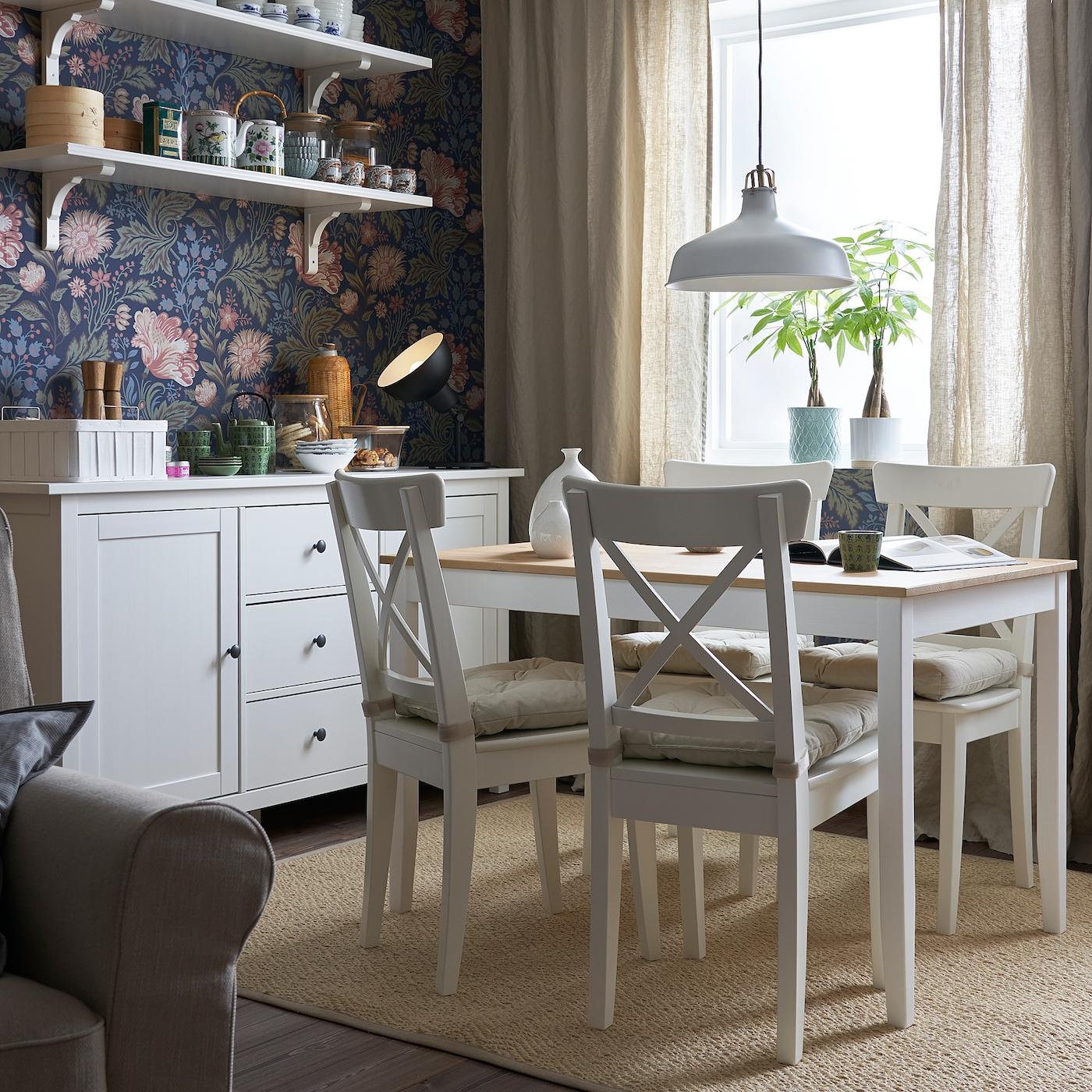 LERHAMN Tisch, Antikbeize hell, weiß gebeizt. Hier bestellen
