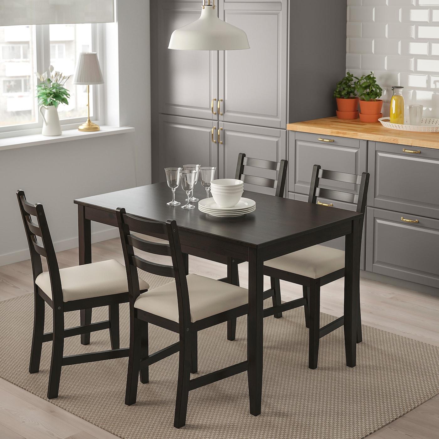 LERHAMN Tisch schwarzbraun 118x74 cm