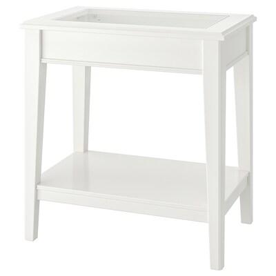 LIATORP Beistelltisch, weiß/Glas, 57x40 cm