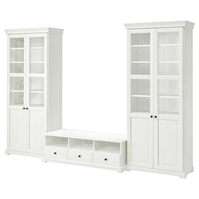 LIATORP TV-Möbel, Kombination, weiß, 331x214 cm