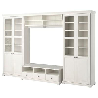 LIATORP TV-Möbel, Kombination, weiß, 332x214 cm