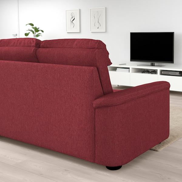 LIDHULT 2er Sofa Lejde rotbraun rot braun IKEA