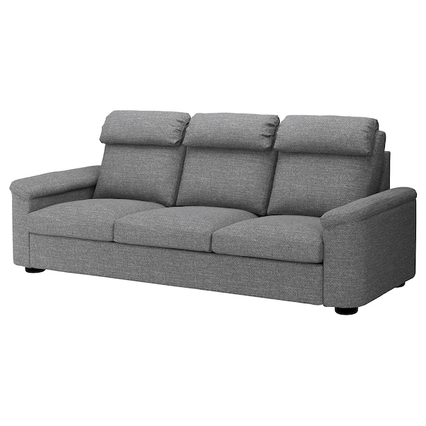 LIDHULT 3er Sofa Lejde grau schwarz IKEA