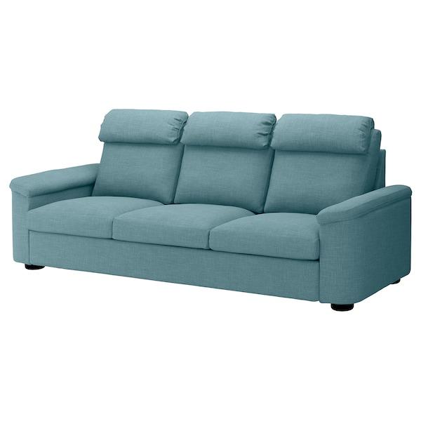 3er-Sofa LIDHULT Gassebol blau/grau