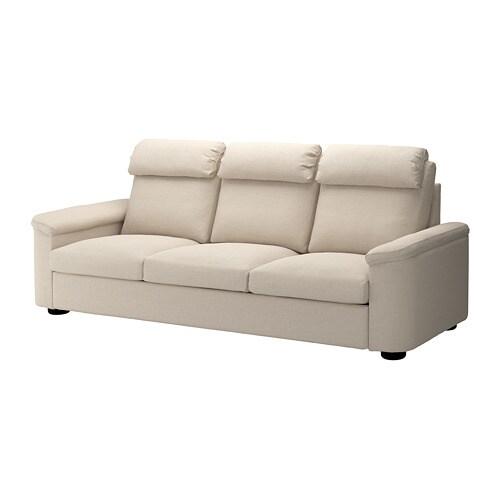 lidhult 3er sofa gassebol hellbeige ikea. Black Bedroom Furniture Sets. Home Design Ideas