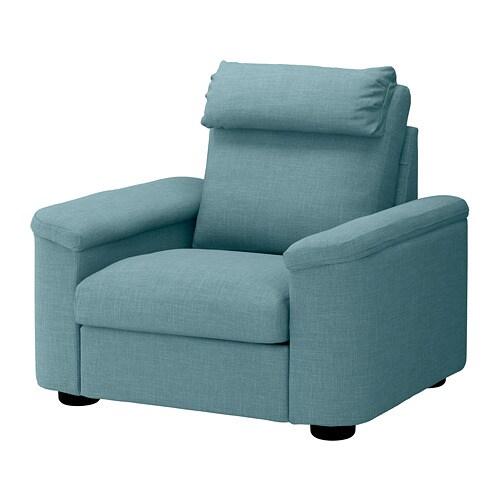Lidhult Sessel Gassebol Blau Grau Ikea