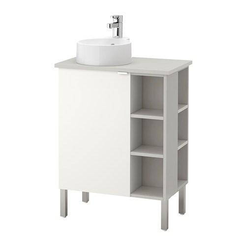 lill ngen viskan gutviken waschkommode 1 t r 2 abschlregale edelstahl grau 62x40x92 cm ikea. Black Bedroom Furniture Sets. Home Design Ideas