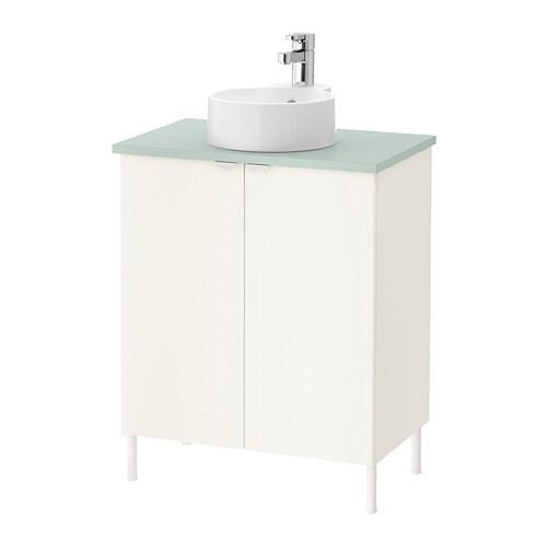 lill ngen viskan gutviken waschkommode 2 t ren wei blassgr n 62x40x87 cm ikea. Black Bedroom Furniture Sets. Home Design Ideas