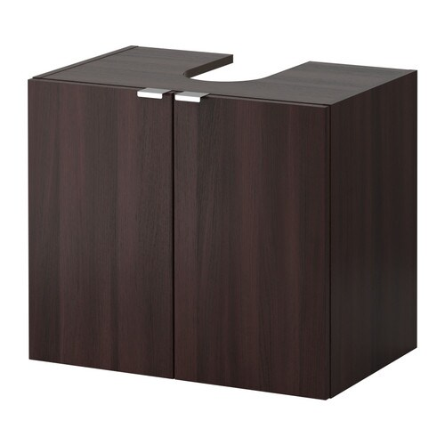 lill ngen waschbeckenunterschrank 2 t ren schwarzbraun ikea. Black Bedroom Furniture Sets. Home Design Ideas