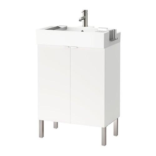 lill ngen waschkommode 2 t ren edelstahl 61x41x92 cm ikea. Black Bedroom Furniture Sets. Home Design Ideas