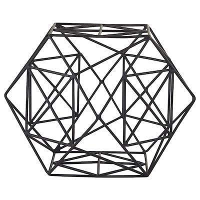 LINDRANDE Dekoration, sechseckig schwarz, 15 cm
