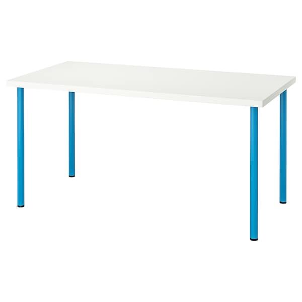 LINNMON / ADILS Tisch weiß/blau 150 cm 75 cm 74 cm 50 kg