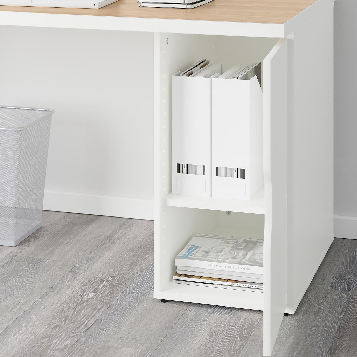 LINNMON GODVIN Tisch weiß Eicheneff wlasweiß 150x75 cm