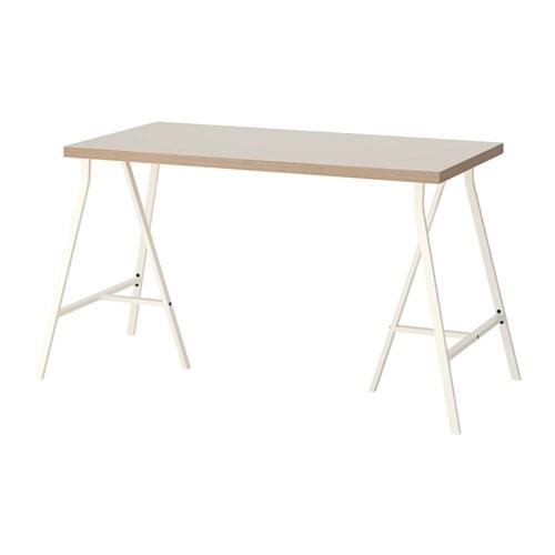 linnmon lerberg tisch beige wei ikea. Black Bedroom Furniture Sets. Home Design Ideas