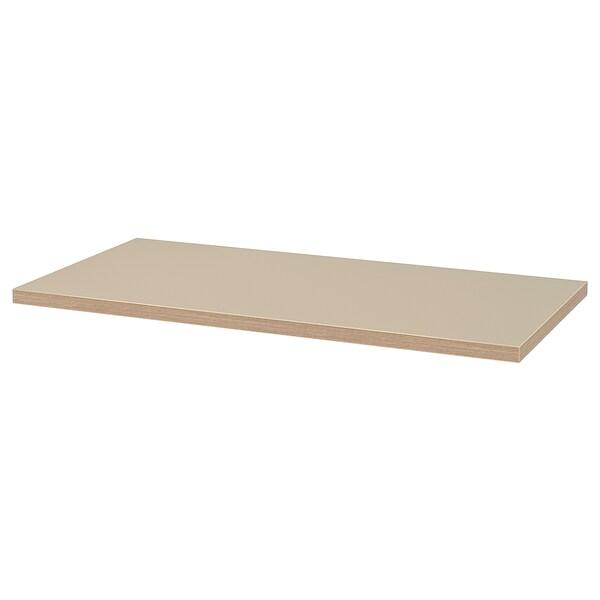 LINNMON Tischplatte beige 120 cm 60 cm 3.4 cm 50 kg