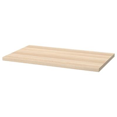 LINNMON Tischplatte, weiß las. Eichenachbildung, 100x60 cm