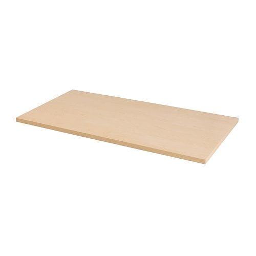 linnmon tischplatte birkenachbildung ikea. Black Bedroom Furniture Sets. Home Design Ideas
