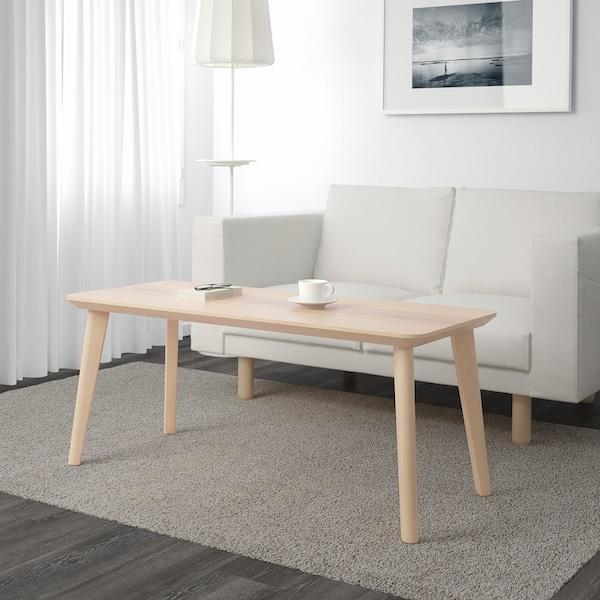 LISABO Couchtisch, Eschenfurnier, 118x50 cm